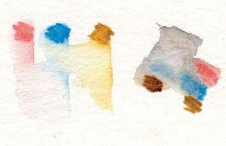 Watercolour Pencil shells drawing Mini Pallet