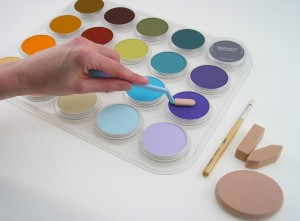 Using 20 colour PanPastel tray