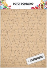 Dutch Doobadoo Cardboard Art A5 Hearts