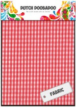 DDBD Red Check Fabric Sheets 2 off 15 x 21cm