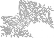 Mask stencil A4 Butterfly