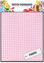 DDBD Pink Check Fabric Sheets 2 off 15 x 21cm