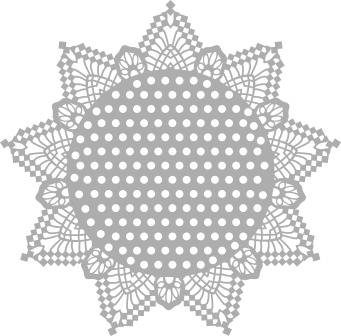 """12""""x12"""" dots with edges stencil"""